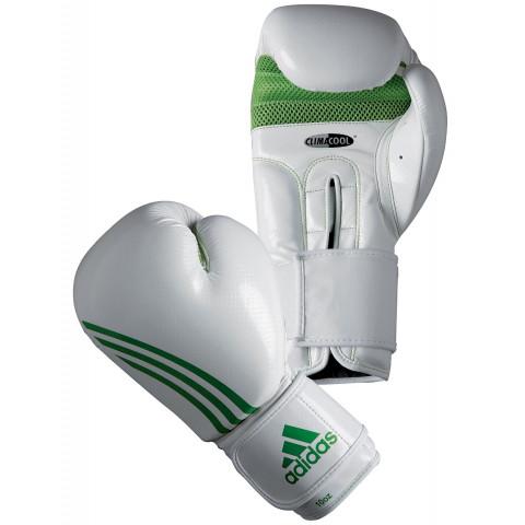 Adidas Box-Fit Boxningshandskar, vit/grön
