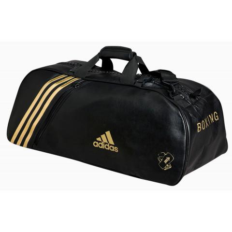 Adidas Super gymväska, svart/guld