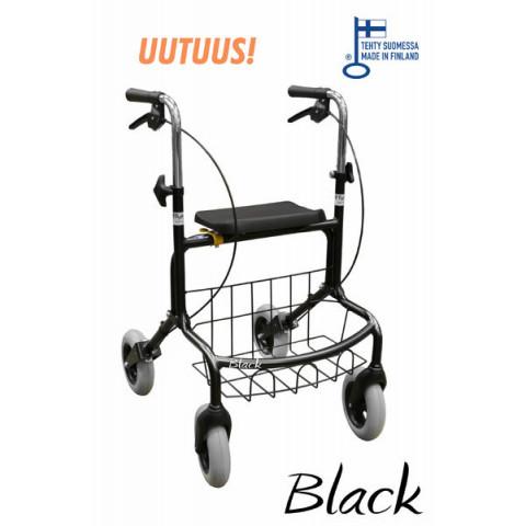 Rollator Mauno, svart