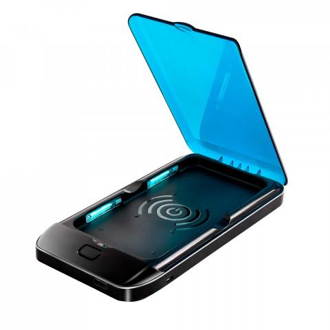 UV-sterilisering för telefon med trådlös laddare och batteri