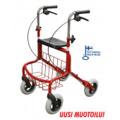Rollator Mauno, röd